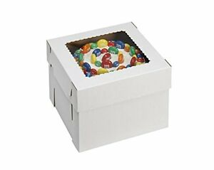 Wpckb128 Bakery Take Out Containers Cake Box With Window E flute 12 8 White
