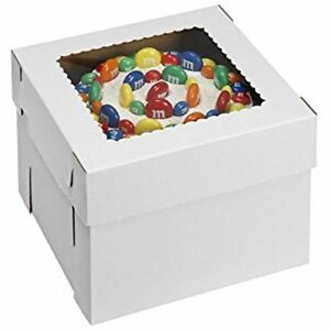 Wpckb148 Bakery Take Out Containers Cake Box With Window E flute 14 8 White