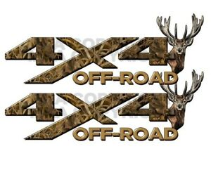 4x4 Off Road Max Camo Deer Head Camouflage Truck Decal Sticker Chevy Ford