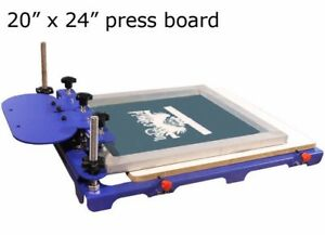 1 Color Screen Printing Machine 20 X 24 Pallet Silk Screen Press Printer