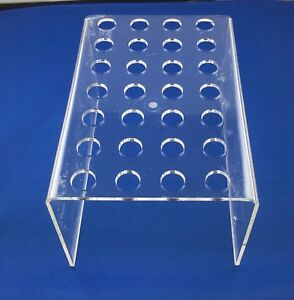 Clear Acrylic Dental Composite Syringe Flowable Etch Organizer Holds 28 Items