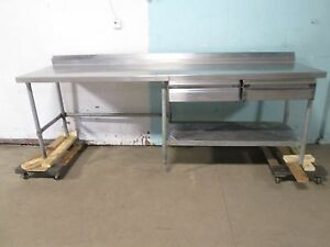advance Tabco Heavy Duty Commercial S s 103 w Prep work Table W 2 Drawers