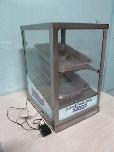 round up Commercial H d Lighted Bakery Counter top Merchandiser display Case