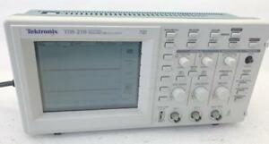 Tektronix Tds210 60mhz 1gs s 2 Channel Digital Real Time Scope Oscilloscope