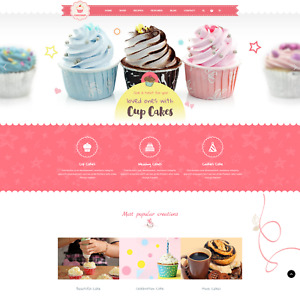 Bakery Sweets Cake Coffee fast Food Unlimited Trial Shopify Sell Website 14
