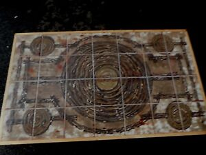 Vintage Ox Art Danish Modern Tile Coffee Table Denmark 1974 Signed Earth Tone