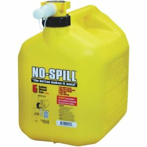 5 gallon No spill Yellow Poly Plastic Diesel Fuel Can Brand New