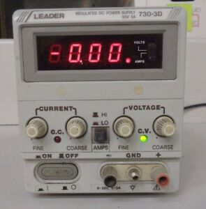 Leader 730 3d 30v 3a Regulated Power Supply