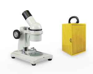 Parco Scientific Pfm Field Trip Microscope With Wooden Carrying Case