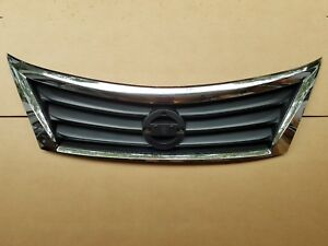 Fits 2013 2015 Nissan Altima Upper Grille On Front Bumper New