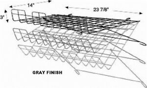 Store Display Fixtures New Gray Grid Wire Adjustable Wire Shelf 24 w X15 d