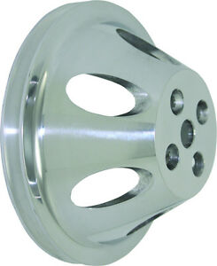 Bbc Big Block Chevy 1 Groove Polished Aluminum Short Water Pump Pulley 396 454