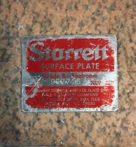 Starrett Granite Surface Plate Grade B Toolroom 967716 12x12x4 Crystal Pink