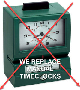 Easy Employee Time And Attendance Digital Hours Recorder Payroll Timeclock
