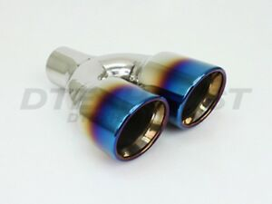 Pair Dt 24161bf L R Blue Flame Exhaust Tip Double Wall Slant 2 25 Inlet 9 75 L