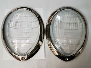 1939 Deluxe Ford Headlight Lenses And Trim Rings Ford Script