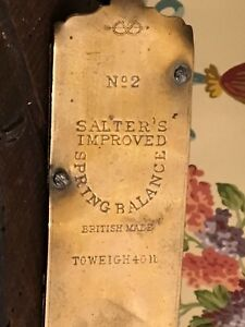 English Salters Spring Balance Scale No 2 Brass Metal British Made