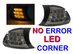 Depo Amber Led Smoke Corner Signal Light For 2000 2001 Bmw E46 2d Coupe Cabrio