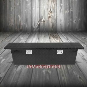 51 x11 x13 75 Black Pickup trailer Trunk Bed Utility Storage Flat Tool Box lock