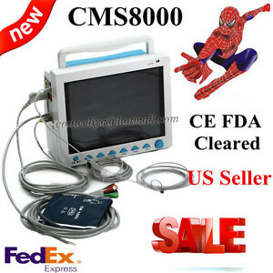 Fda Portable Multi parameter Vital Signs Patient Monitor Icu ccu Machine Cms8000