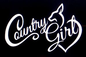 Browning Deer Country Girl Sticker Vinyl Decal Hunting Buck Whitetail Car Truck