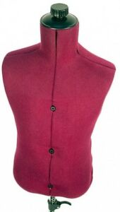 Adjustable Child size Maroon Nylon Mannequin Dress Form With Steady Tripod Base