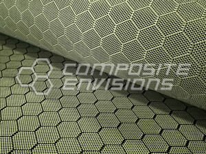 Carbon Fiber Aramid Hybrid Fabric Honeycomb 3k 220gsm 6 49oz 50