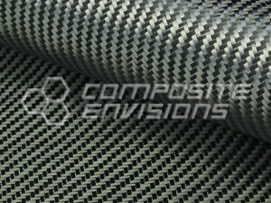 Carbon Fiber Fabric 2x2 Twill Biaxial 45 Degree 12k 376gsm 11 1oz 48