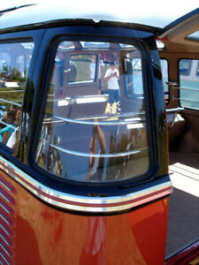 Vw Type 2 Bus 1955 1963 15 23 Window Deluxe Corner Window Glass Deluxe Microbus