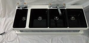 Portable Sink Mobile Concession 3 compartment m With Hand Wash Sink s w
