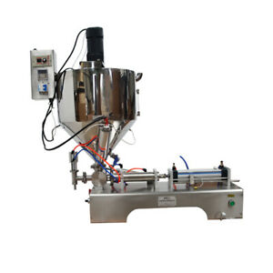 110v 10 300ml Paste Liquid Heating Mixing Filling Machine With Vertical Hopper