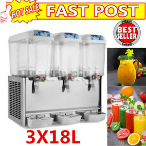 54l Commercial Juice Beverage Cold Refrigerated Drink Dispenser Machine Three Us