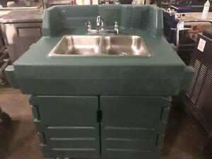 Cambro Ksc402 Green Camkiosk Portable Self contained Hand Sink Cart 110v