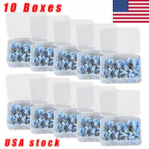 Usa 1000pcs Dental Polishing Polish Cups Prophy Cup Latch Type Rubber Blue Vlvn