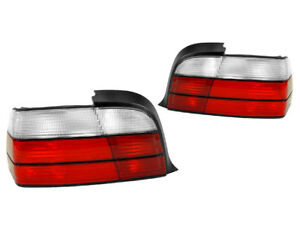 Depo Euro Red Clear Rear Tail Light For 92 99 Bmw E36 2 Door Coupe Convertible
