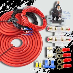 Heavy Duty Dual Auxiliary Battery Isolator W Copper Cables Complete Kit Fuses