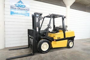 2006 Yale Glp120 12 000 Pneumatic Tire Forklift 3 Stage Sideshift Hyster
