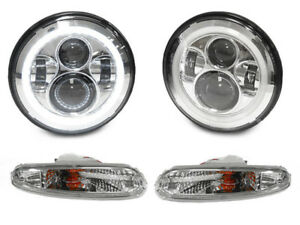 Full Led Headlight H6024 Clear Bumper Signal Light For 1990 1997 Mazda Miata Mx5