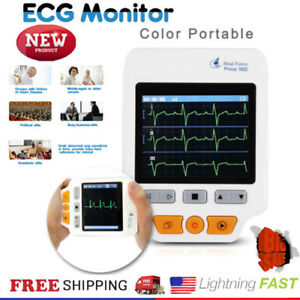 Heal Force Prince 180d Color Portable Handheld Ecg Ekg Monitor Voice Prompt Usa