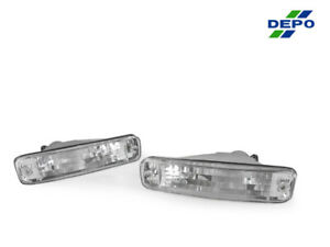 Depo Jdm Pair Of Euro Clear Bumper Signal Lights For 1990 1991 Acura Integra