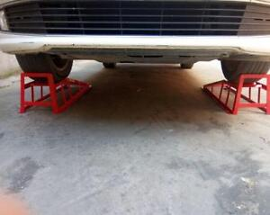 One Pair 3ton Ramp Wide Pair Car Service Maintenance Lifting Equipment Ramps New