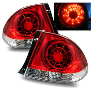 For 01 05 Lexus Is300 Red Clear Left right Led Tail Lights Rear Brake Lamps
