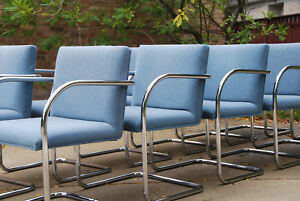 Two Sets Of Brno Chairs By Mies Van Der Rohe Mcm 12 Total Available 6x Lot
