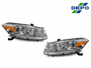 Depo Jdm Chrome Projector Headlights Dot sae For 2008 2010 Honda Accord 2d Coupe