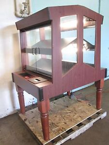 columbus Show Case H d Commercial Stained Wood Lighted Bakery Merchandiser