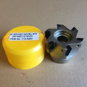 2 X 3 4 90 Square Shoulder Indexable Face Mill Cutter With 5x Apkt1604 Insert