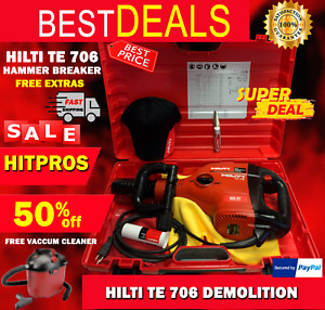 Hilti Te 706 Demolition Hammer Breaker Free Hilti Hat Knife Fast Ship