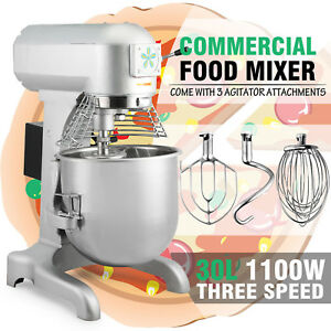 Commercial 1 5 Hp 30 Quart Food Mixer Gear Driven Dough Flour Paste Three Speed