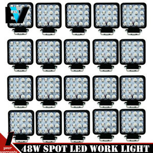 20pcs 48w Cree Led Work Light Fog Flood Beam Lamp Offroad Truck 12v Suv Ute Atv