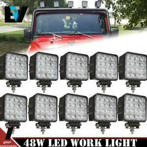10x 27w Spot Led Off Road Work Light Lamp 12v 24v Car Boat Truck Driving Ute